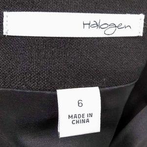 Halogen Skirts - EUC Halogen Pencil Skirt Black w/ Silver Size 6